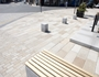 Detail of new public realm seating