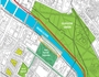 Plan of green network proposal for Gorbals