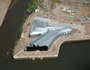 Aerial view of the new Riverside Museum