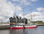 The Tall Ship moves to its new home at the Riverside Museum