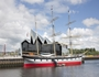 The Riverside Museum and SV Glenlee at Glasgow Harbour
