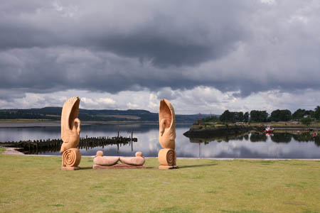 Commissioned sculptures at Bowling Basin