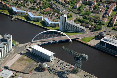 Aerial view of the Clyde Arc
