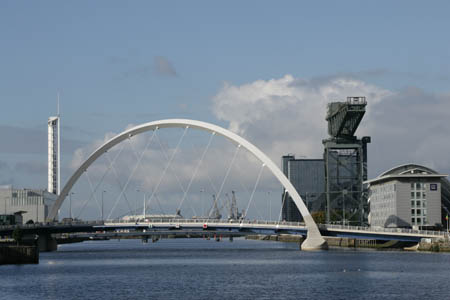 The Clyde Arc, now part of the city's iconic landscape
