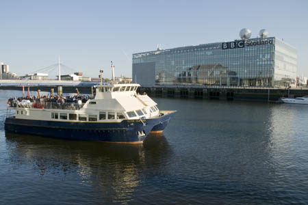 The Clyde Clipper passes the BBC