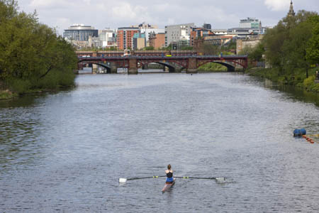 Rowing at Glasgow Green