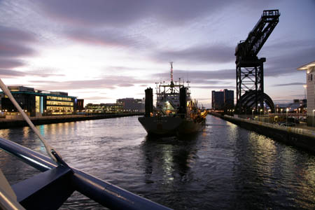 Commercial craft use the Clyde once again