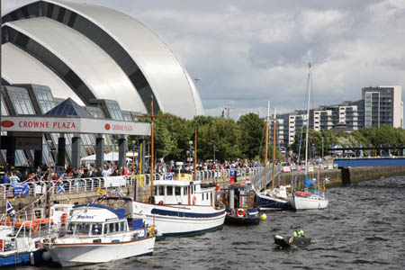 Visiting craft on The Clyde
