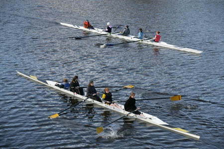 Rowing is an established activity on The Clyde