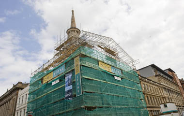 Restoration work commences at Hutchesons Hall