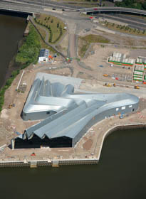 Aerial view of the Riverside Museum