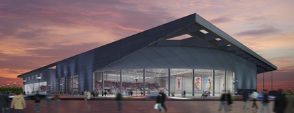 Artists impression of the National Velodrome at night, courtesy of Designhive/Glasgow 2014