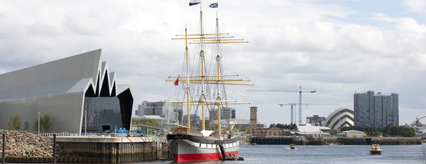The SV Glenlee at the Riverside Museum