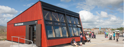 The new visitor and education centre at Titan Clydebank