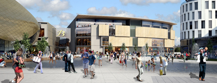 Artist impression of the new Braehead