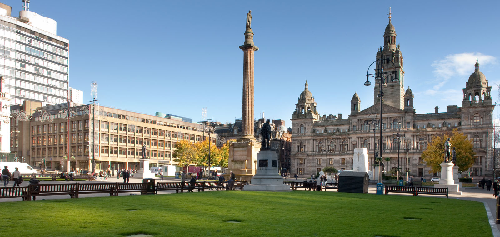 George Square, the heart of Glasgow