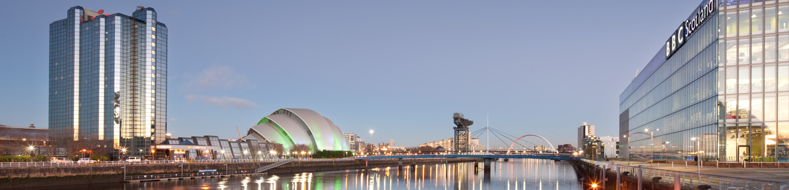 View to the city centre from Pacific Quay and SECC